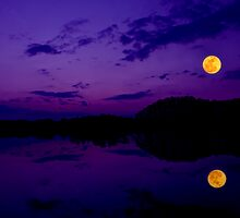 Super Moonset by Tim Scullion