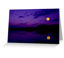 Super Moonset Greeting Card