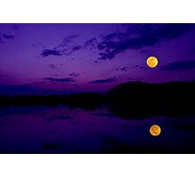 Super Moonset Photographic Print