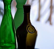 Vintage Glass Bottles by Joanne  Bradley
