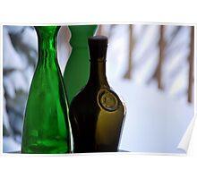 Vintage Glass Bottles Poster