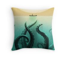Squid Fisher Throw Pillow