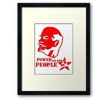lenin - power to the people Framed Print