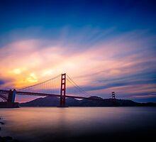 San Francisco Golden Gate Bridge at Sunset by heyengel
