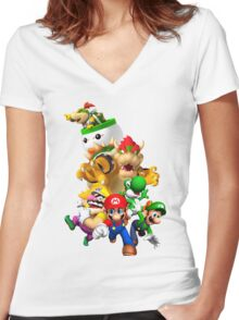 Mario 64 Women's Fitted V-Neck T-Shirt