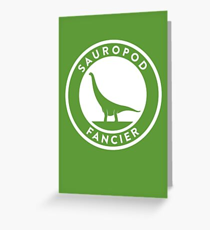 Sauropod Fancier Print Greeting Card