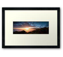 sun and the moon Framed Print