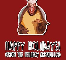 Happy Holidays from the Holiday Armadillo by fashprints