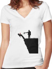 Cliffhanger Women's Fitted V-Neck T-Shirt