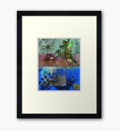 Falling Into Space Framed Print