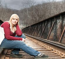 Samone On The Tracks by Matthew Hutzell