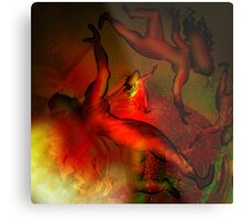 Dances with Wolves Metal Print