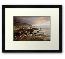 Sunset with the seagulls Framed Print