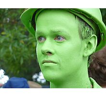 Little Boy Green Photographic Print