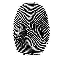 Fingerprint #2 (Dark) Photographic Print