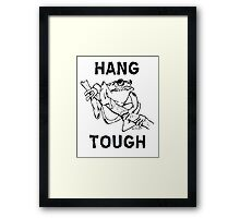 Hang Tough Tree Frog Framed Print