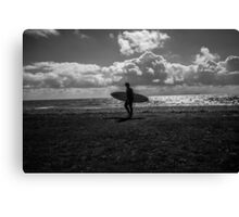 The East Wittering Surfer. Canvas Print