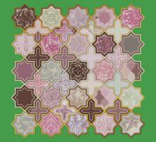 Neapolitan Geometric Tile Pattern Baby Tee