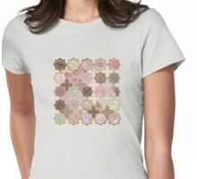 Neapolitan Geometric Tile Pattern Womens Fitted T-Shirt