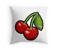 Cherries Cherries Cherries Throw Pillow