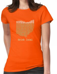 Drink Local - Ohio Beer Shirt Womens Fitted T-Shirt