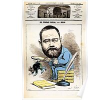 André Gill ZOLA Caricature Gill 1876 Poster