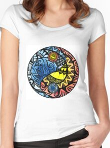 Yin Yang Fire and Ice Tangle Women's Fitted Scoop T-Shirt