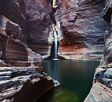 Knox Slide - Karijini N.P. Western Australia by Mark Shean