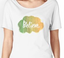 Random and simple Believe Design Women's Relaxed Fit T-Shirt