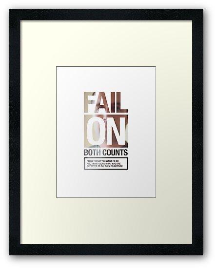FAIL ON BOTH COUNTS by Steve Leadbeater