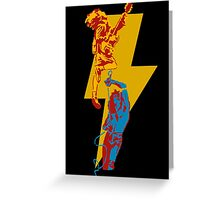 AC DC thunderbolt Greeting Card