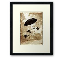 magritte meets pushkin Framed Print
