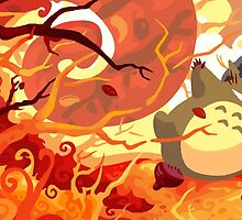 Fall Leaves Totoro by Optimistic  Sammich