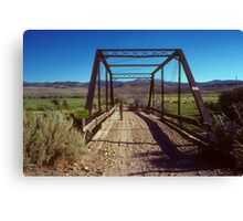 There was an Old Bridge Canvas Print