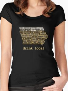 Drink Local - Iowa Beer Shirt Women's Fitted Scoop T-Shirt