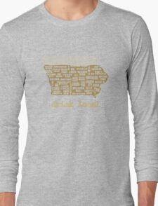 Drink Local - Iowa Beer Shirt Long Sleeve T-Shirt