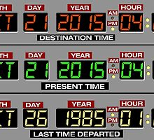Back to the Future 2 Time Circuits 2015 by geekomic