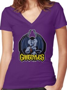 Gargoyles (Goliath) Women's Fitted V-Neck T-Shirt