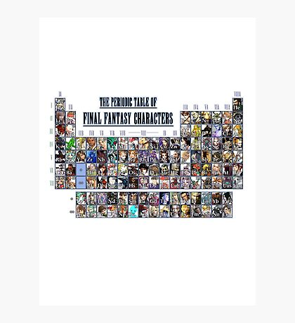 The periodic table of Final Fantasy Characters Photographic Print