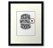 Asexual but still sensual- Clothes Framed Print