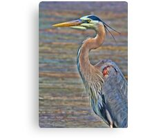 Blue Heron With HDR Canvas Print