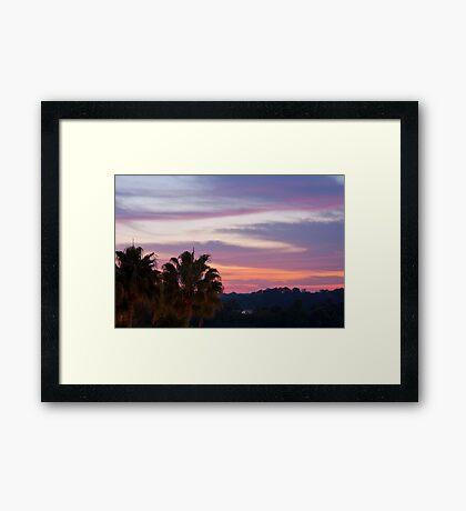 Tropical Morning Sky Framed Print
