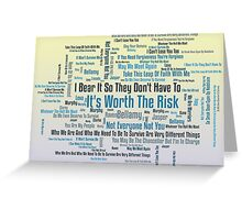 Word Cloud-Worth The Risk-Purple Greeting Card
