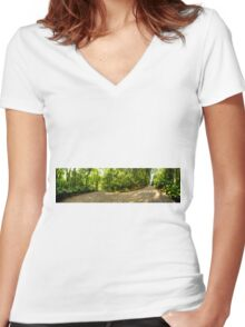 180º Panorama Women's Fitted V-Neck T-Shirt
