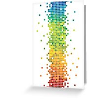 Pixel Rainbow Greeting Card