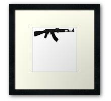 AK-47 BLACK LOGO Framed Print