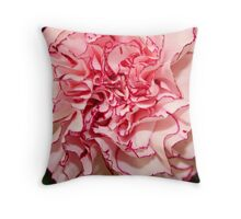Carnation Edged in Red Throw Pillow