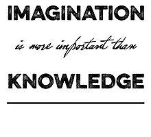 "Albert Einstein ""Imagination"" Quote Typography by NordicStudio"