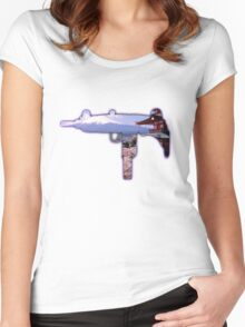CHERRY BLOSSOM UZI Women's Fitted Scoop T-Shirt