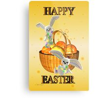 Happy Easter .. bunny style Metal Print